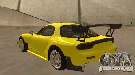 Mazda RX7 FD3S RE Amemyia Touge Style для GTA San Andreas вид сзади