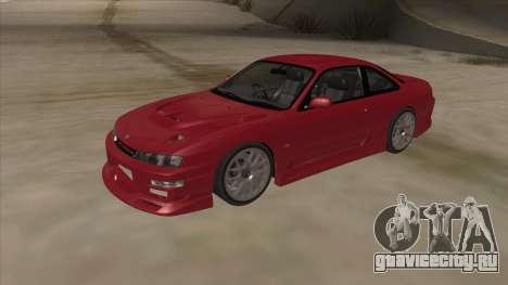 Nissan Silvia S14 RB26DETT Black Revel для GTA San Andreas вид слева