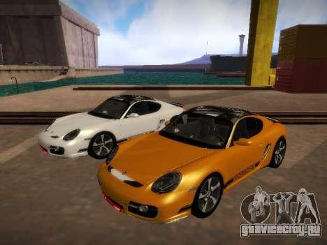 Porsche Cayman R 2007 для GTA San Andreas вид слева