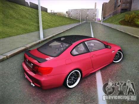 BMW M3 E92 Hamann 2012 для GTA San Andreas вид справа