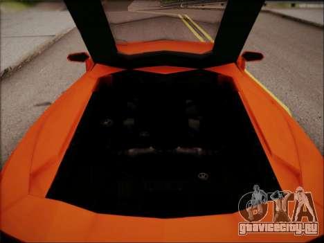Lamborghini Aventador LP700 для GTA San Andreas салон