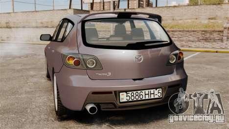 Mazda 3 Sport для GTA 4 вид справа