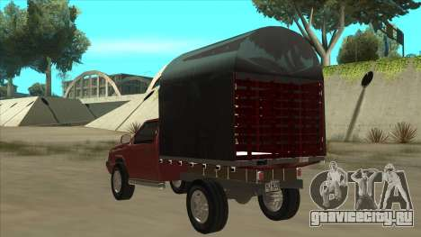 Chevrolet Luv 2.500 diesel для GTA San Andreas вид сзади