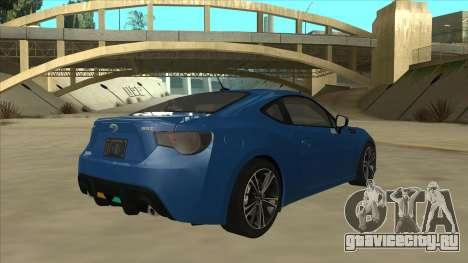 Subaru BRZ 2013 Tunable для GTA San Andreas вид справа