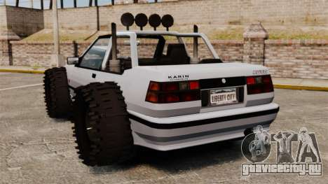 Jeep Futo Final для GTA 4 вид сзади слева