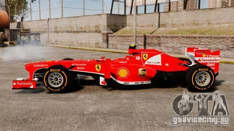 Ferrari F138 2013 v2 для GTA 4 вид слева