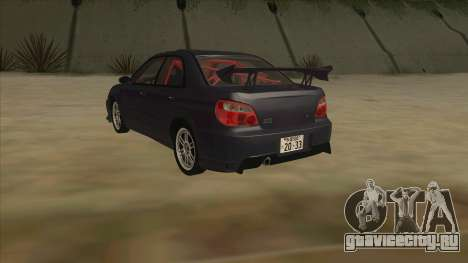 Subaru Impreza WRX STI Drift 2004 для GTA San Andreas вид сзади