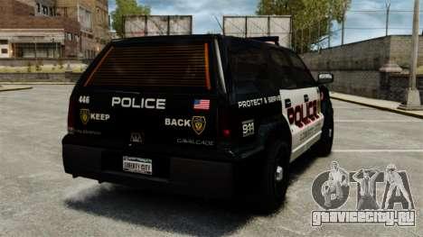 Патрульный Cavalcade для GTA 4 вид сзади слева