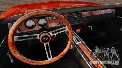 Dodge Charger General Lee 1969 для GTA 4 вид сзади слева