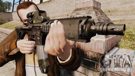 Автомат M4 CQC в стиле Modern Warfare для GTA 4 третий скриншот