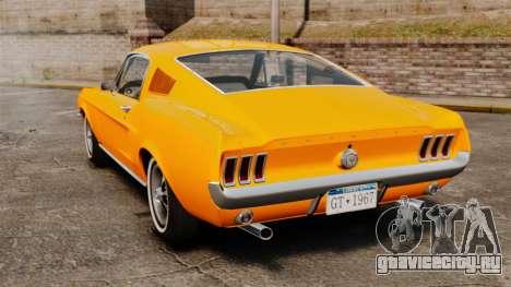 Ford Mustang 1967 Classic для GTA 4 вид сзади слева