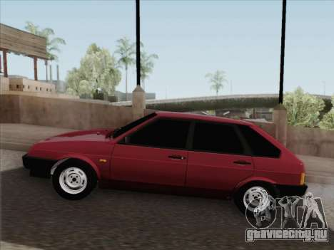 ВАЗ 21093i для GTA San Andreas вид снизу