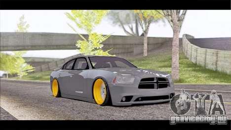 Dodge Charger SRT8 для GTA San Andreas вид изнутри