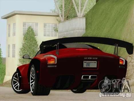 Devon GTX 2010 для GTA San Andreas вид справа