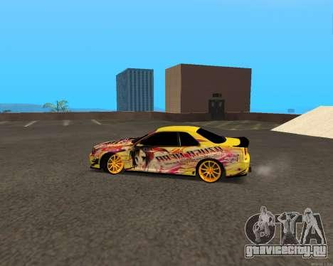 Nissan Skyline R34 Azusa Mera для GTA San Andreas вид слева