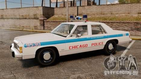 Ford LTD Crown Victoria 1987 [ELS] для GTA 4 вид слева