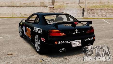 Nissan Silvia S15 v4 для GTA 4 вид сзади слева