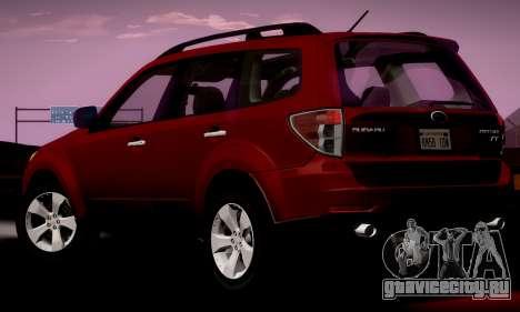 Subaru Forester XT 2008 v2.0 для GTA San Andreas вид слева