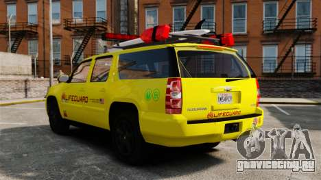 Chevrolet Suburban Los Santos Lifeguard [ELS] для GTA 4 вид изнутри