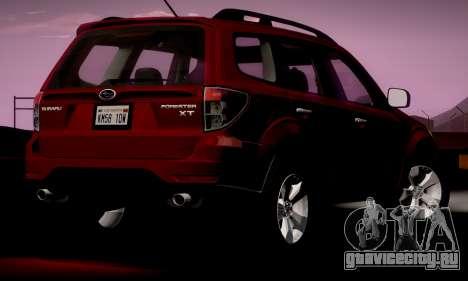 Subaru Forester XT 2008 v2.0 для GTA San Andreas вид сзади слева