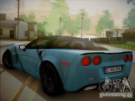 Chevrolet Corvette ZR1 2010 для GTA San Andreas вид слева