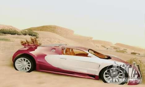 Bugatti Veyron 16.4 Concept для GTA San Andreas вид сзади слева