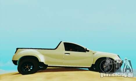 Dacia Duster Pick-up для GTA San Andreas вид справа