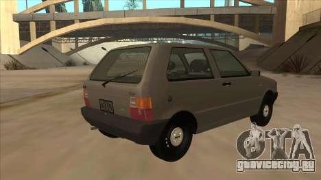 Fiat Uno 1995 для GTA San Andreas вид справа