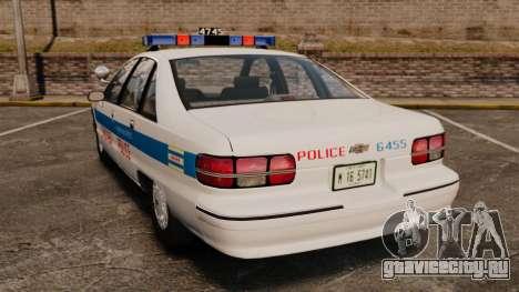 Chevrolet Caprice 1991 [ELS] v1 для GTA 4 вид сзади слева