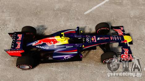 Болид Red Bull RB9 v6 для GTA 4 вид справа