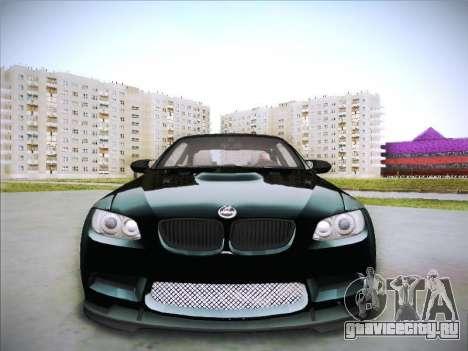 BMW M3 E92 Hamann 2012 для GTA San Andreas вид изнутри