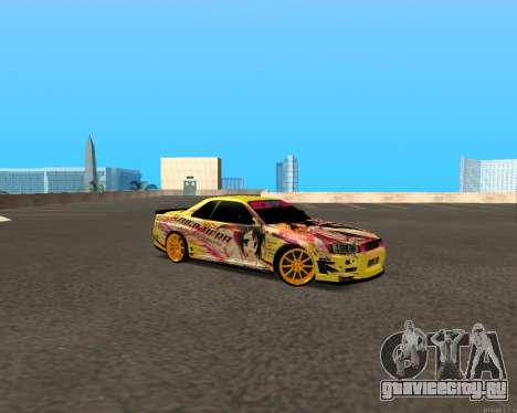 Nissan Skyline R34 Azusa Mera для GTA San Andreas