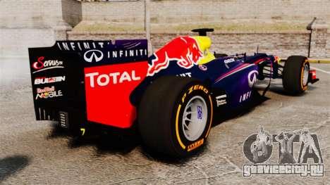 Болид Red Bull RB9 v2 для GTA 4 вид сзади слева