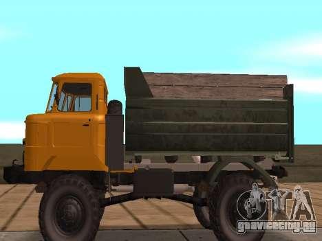 ГАЗ 66 Самосвал для GTA San Andreas вид сзади слева