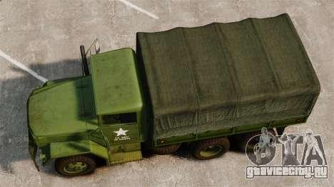 Базовый военный грузовик AM General M35A2 1950 для GTA 4 вид справа