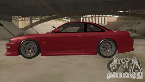 Nissan Silvia S14 RB26DETT Black Revel для GTA San Andreas вид сзади слева