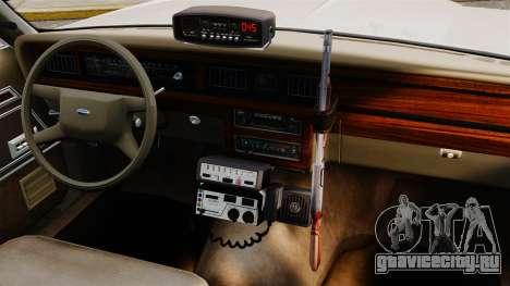 Ford LTD Crown Victoria 1987 [ELS] для GTA 4 вид изнутри