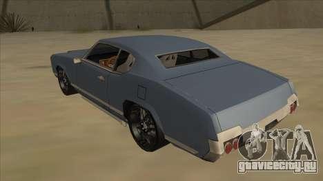 Tuned Sabre для GTA San Andreas вид сзади