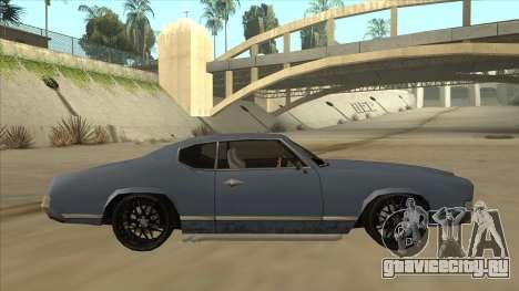 Tuned Sabre для GTA San Andreas вид сзади слева