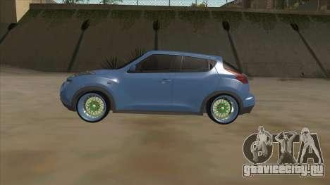 Nissan Juke Lowrider для GTA San Andreas вид сзади слева