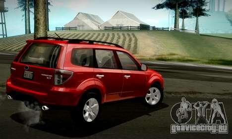 Subaru Forester XT 2008 v2.0 для GTA San Andreas вид сверху