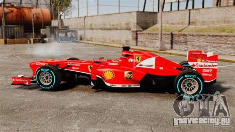 Ferrari F138 2013 v1 для GTA 4 вид слева