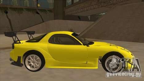 Mazda RX7 FD3S RE Amemyia Touge Style для GTA San Andreas вид сзади слева