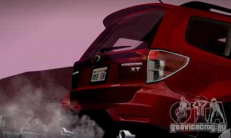 Subaru Forester XT 2008 v2.0 для GTA San Andreas салон