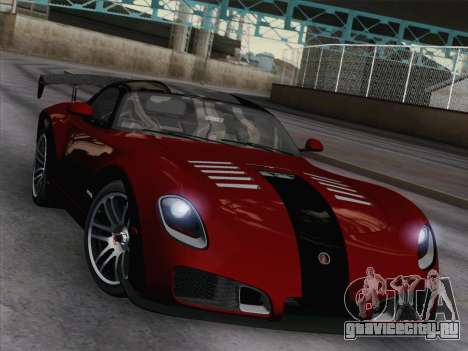 Devon GTX 2010 для GTA San Andreas вид изнутри