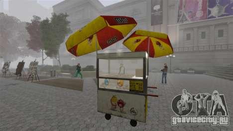 Обновлённые киоски и хот-договые тележки для GTA 4 восьмой скриншот
