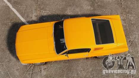 Ford Mustang 1967 Classic для GTA 4 вид справа