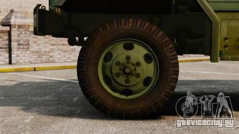 Базовый военный грузовик AM General M35A2 1950 для GTA 4 вид изнутри