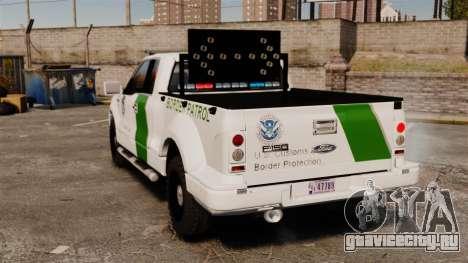 Ford F-150 v3.3 Border Patrol [ELS & EPM] v1 для GTA 4 вид сзади слева