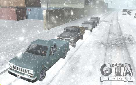 Snow San Andreas 2011 HQ - SA:MP 1.1 для GTA San Andreas третий скриншот